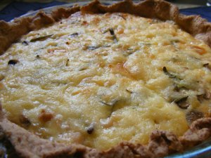 chicken and rosemary quiche