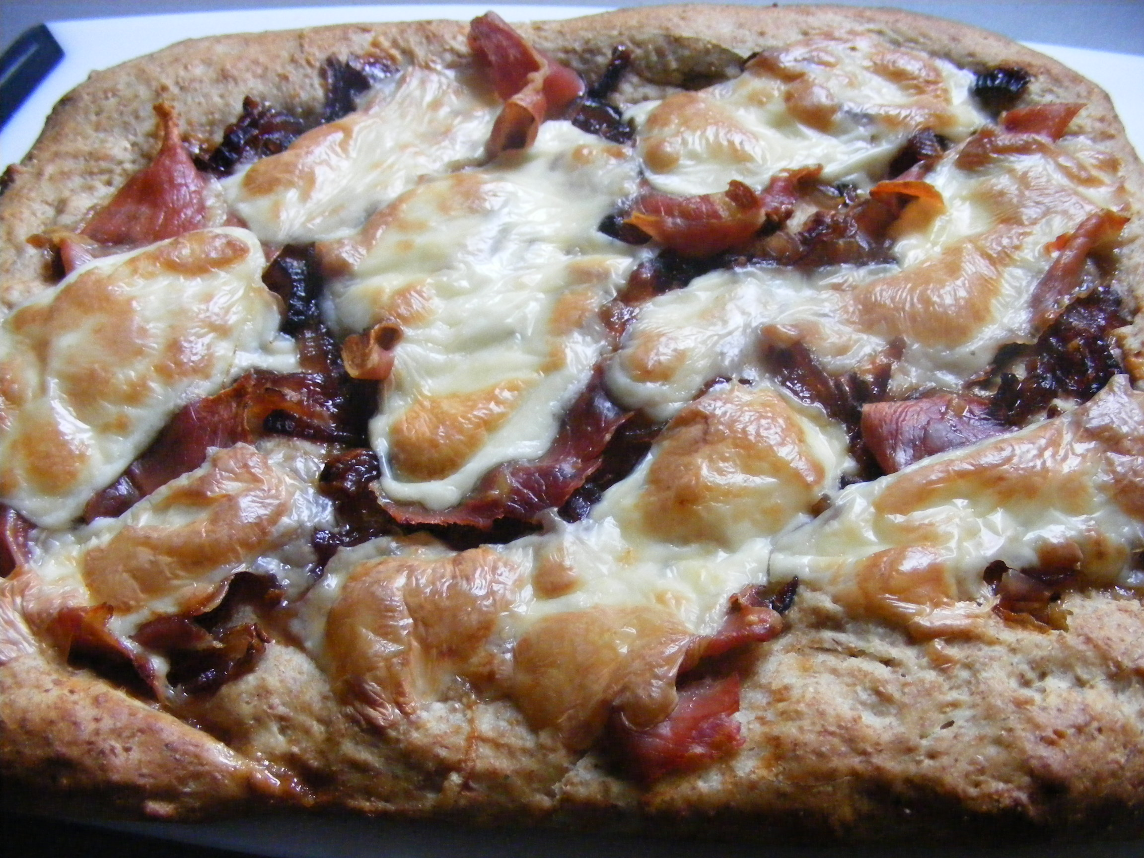 Caramelized Onion and Prosciutto Pizza | Tasty Meals