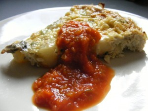 frittata with marinara